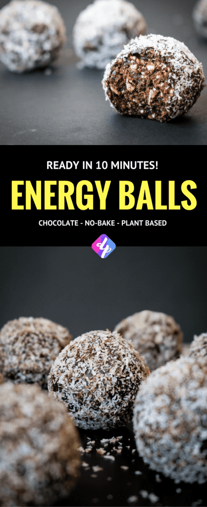 Energy balls are the perfect quick and easy snack. Not only are these energy balls healthy but they have a sweet, chocolatey and rich taste.