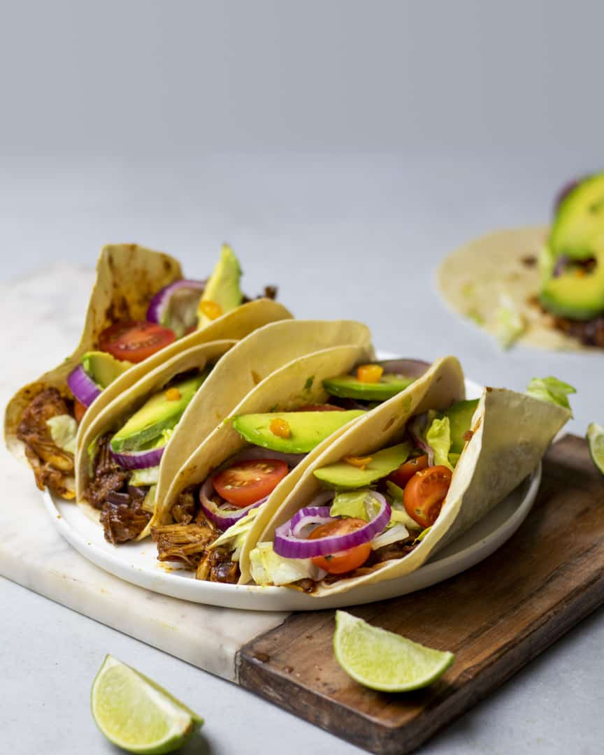 Our vegan jackfruit tacos are perfect for those days when you just want to devour something quick, easy and tasty while being healthy too!