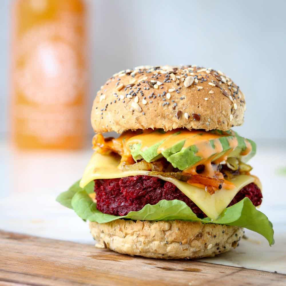 Smoky BBQ Beet Burger - 21 Veggie Burger Recipes