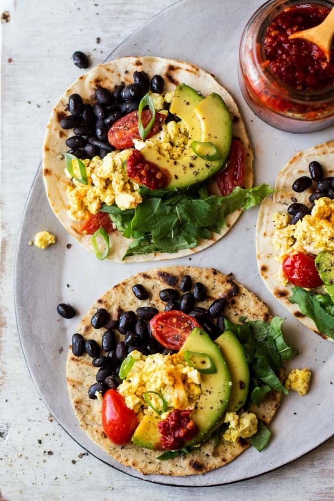 Vegan Breakfast Tacos by Lazy Cat Kitchen. Are you going vegan for a month this January? Here are 31 easy vegan recipes to try this veganuary!