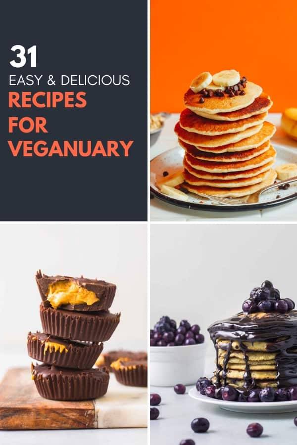 Featured image for the 31 recipes for Veganuary roundup